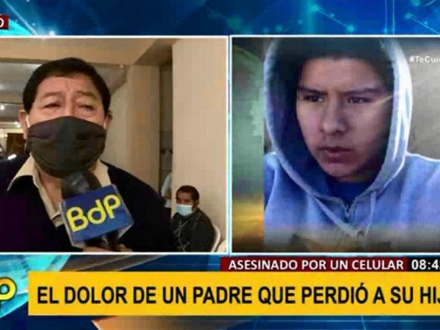 """Padre de joven asesinado por delincuente: """"por un celular han matado a mi hijo"""""""