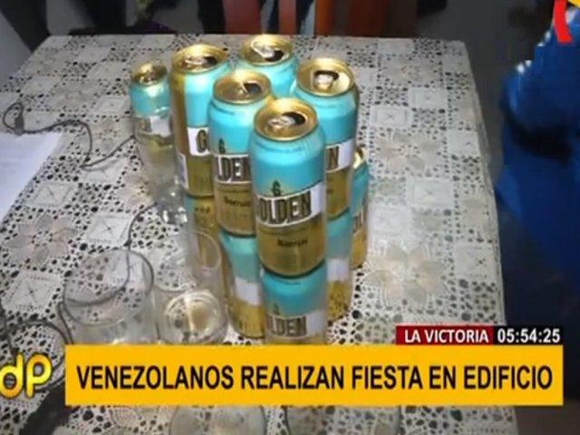 Intervienen a venezolanos que realizaban fiesta en sexto piso de un edificio