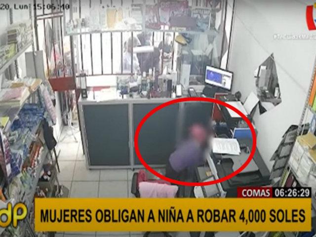 Comas:  mujeres utilizan a una niña para robar S/.4 mil de un agente bancario