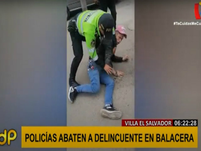 VES: presunto delincuente fue abatido durante persecución policial