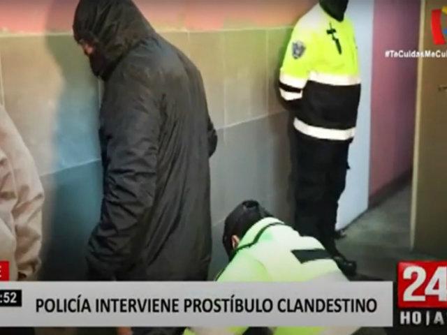 Policía derriba a combazos prostíbulo clandestino en Ate