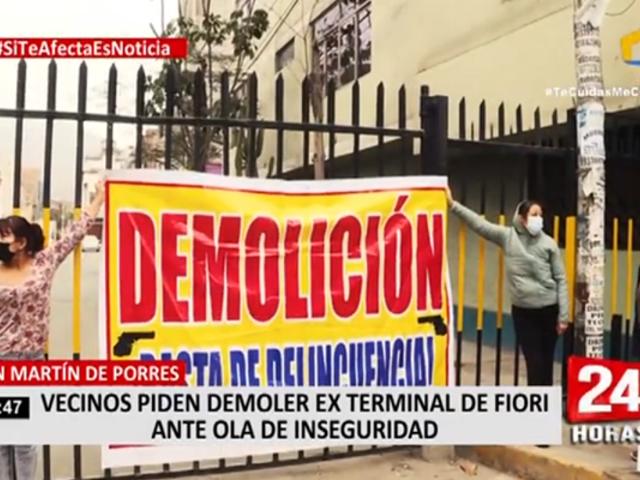 SMP: vecinos piden demoler ex terminal de Fiori ante ola de inseguridad