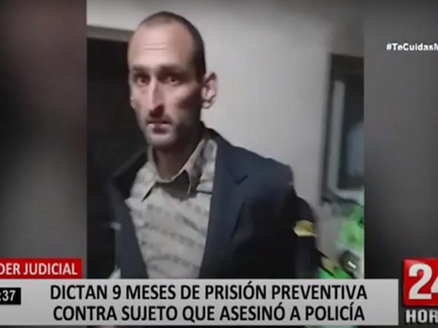 San Isidro: dictan prisión preventiva contra sujeto que asesinó a policía en comisaría