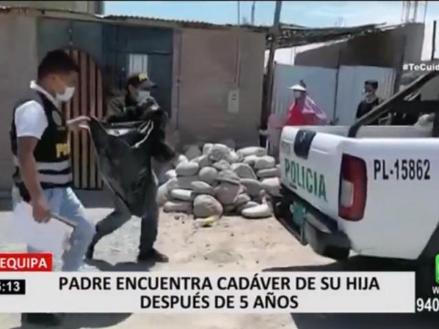 Arequipa: padre encuentra cadáver de su hija después de 5 años