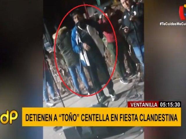 Toño Centella: difunden imágenes de su show en fiesta clandestina de Ventanilla