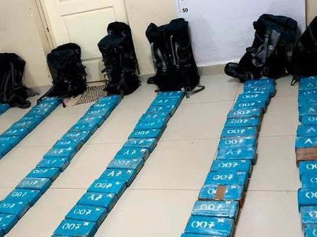 Incautan más de 100 kilos de cocaína durante megaoperativo en Piura