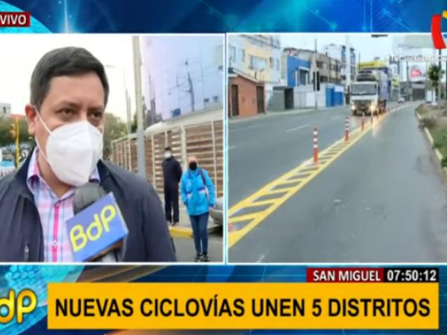 San Miguel implementa 20 kilómetros de ciclovías que conectarán con distritos vecinos