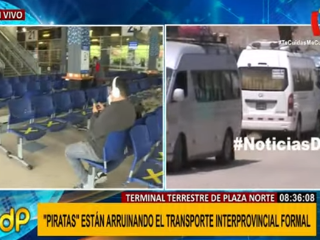 Plaza Norte: transporte interprovincial formal agoniza ante proliferación de ilegales