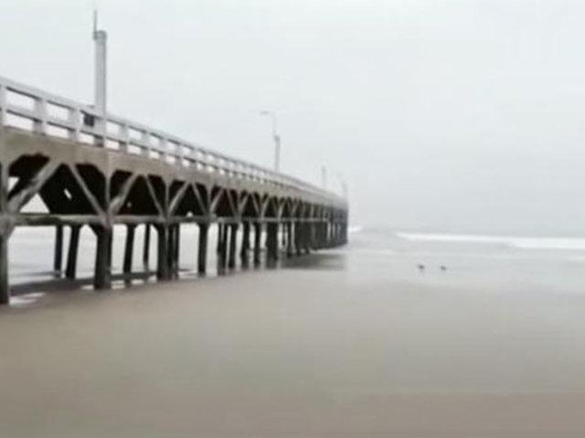 Sepa por qué se retiró el mar 250 metros en playa Cerro Azul