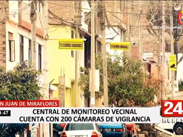 SJM: vecinos instalan más de 200 cámaras para luchar contra la delincuencia