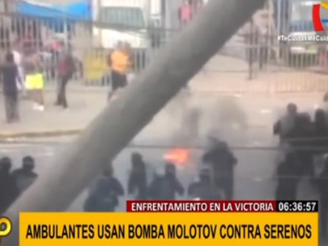 La Victoria: enfrentamiento entre fiscalizadores y ambulantes deja a tres en estado grave