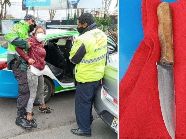 Surco: mujer atacó a cuchillazos a su pareja tras enterarse que tendrá un hijo con su ex