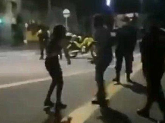 Colombia: joven fue golpeada por su padre para que abandonara una marcha