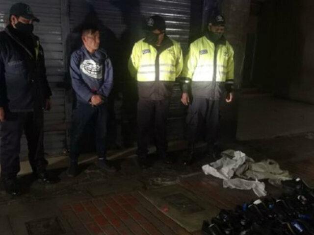 Cercado de Lima: detienen a cuatro personas tras frustrar robos en tiendas de calzado