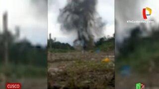 Cusco: destruyen pista de aterrizaje clandestina utilizada por narcotraficantes