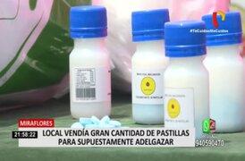 ¡Atentado contra la salud! Incautan más de 10 mil pastillas para adelgazar sin registro sanitario