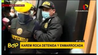 [IMÁGENES EXCLUSIVAS] Karem Roca fue trasladada a la Prefectura
