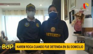 Karem Roca: no descartan apelación de detención preliminar