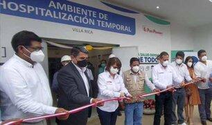Región Pasco: ponen en funcionamiento hospital de Villa Rica para pacientes Covid-19