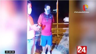Tumbes: Intervienen a alcalde de Aguas Verdes por transitar sin mascarilla