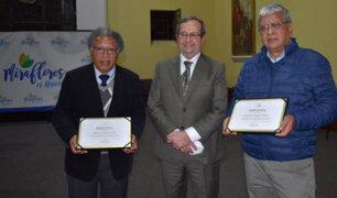 Municipio de Miraflores distinguió a periodistas Julio Alzola y Ricardo Burgos