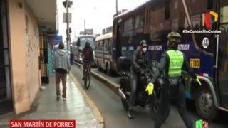SMP: Intervienen a 80 motociclistas por invadir las ciclovías