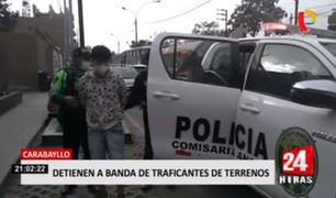 Carabayllo: detienen a banda de traficantes de terrenos