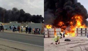 Dantesco incendio se registró en empresa agroindustrial de Lambayeque
