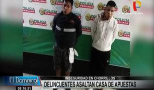 Chorrillos: delincuentes casi fueron linchados tras asaltar casa de apuestas