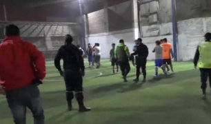 La Victoria: intervienen a 20 personas jugando fulbito pese a restricciones por Covid-19