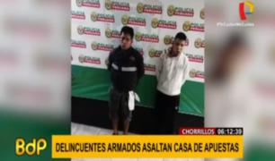 Chorrillos: ladrones desataron terror al asaltar una casa de apuestas