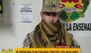Puente Piedra: sujeto usaba uniforme del Ejército para abusar de mujeres