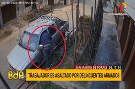 VIDEO: Trabajador es asaltado en la puerta de su casa en SMP
