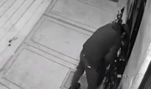 Captan robo de bicicletas en Breña y San Juan de Miraflores