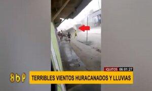 Iquitos: terroríficos vientos huracanados dejan sin techo a varias viviendas