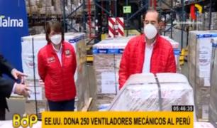 EEUU donó 250 ventiladores mecánicos contra el COVID-19