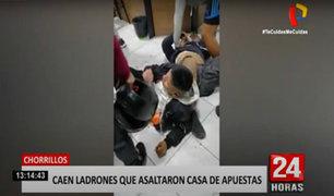 Chorrillos: vecinos y transeúntes casi linchan a asaltantes armados de casa de apuestas
