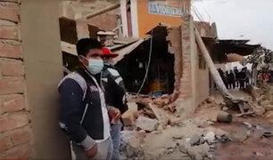 Un muerto deja choque de camión frigorífico contra vivienda en Chiclayo