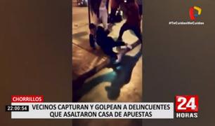 Chorrillos: vecinos castigan a delincuentes que asaltaron casa de apuestas