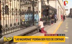 Fieles acuden a Iglesia Las Nazarenas pese a recomendaciones