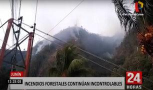 Junín: incendios forestales consumen bosques y hacen peligrar antenas de telefonía
