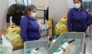 Ayacucho: mujer intentó ingresar a penal droga en frasco de champú