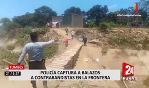 Tumbes: policía captura a balazos a contrabandistas en la frontera