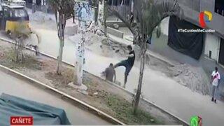 Cañete: Mototaxista queda inconsciente tras ser agredido por extranjero
