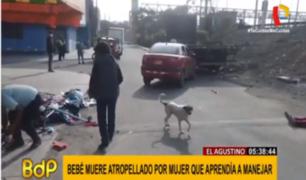 El Agustino: familia de bebé atropellado por mujer que aprendía a conducir exige justicia