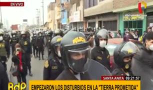 Santa Anita: se desatan disturbios por obras de 'Tierra Prometida'