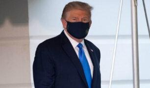 Trump regresó al Salón Oval, a seis días de haber contraído covid-19