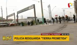 Santa Anita: fuerte presencia policial en exteriores de 'Tierra Prometida'
