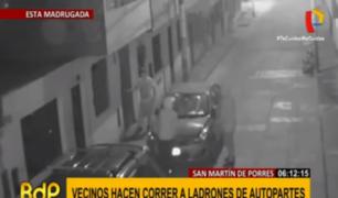 SMP: vecinos hacen huir a delincuentes en pleno robo de autopartes