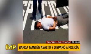 Delincuentes capturados en Surco balearon a policía hace un mes